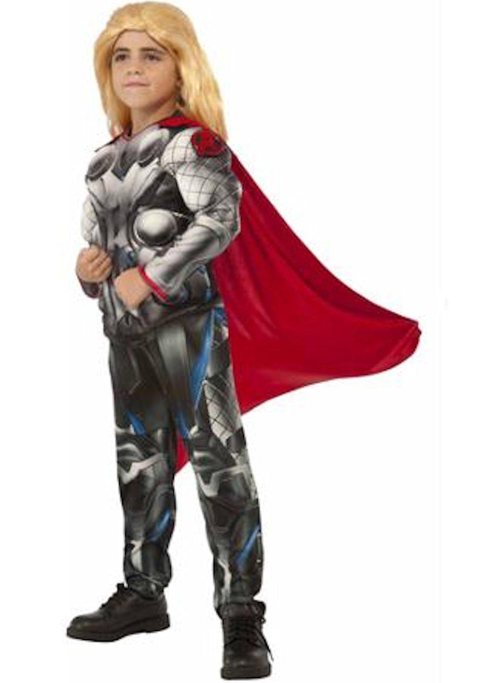 Disfraz de Thor deluxe de Los Vengadores 2 para niño: Amazon ...