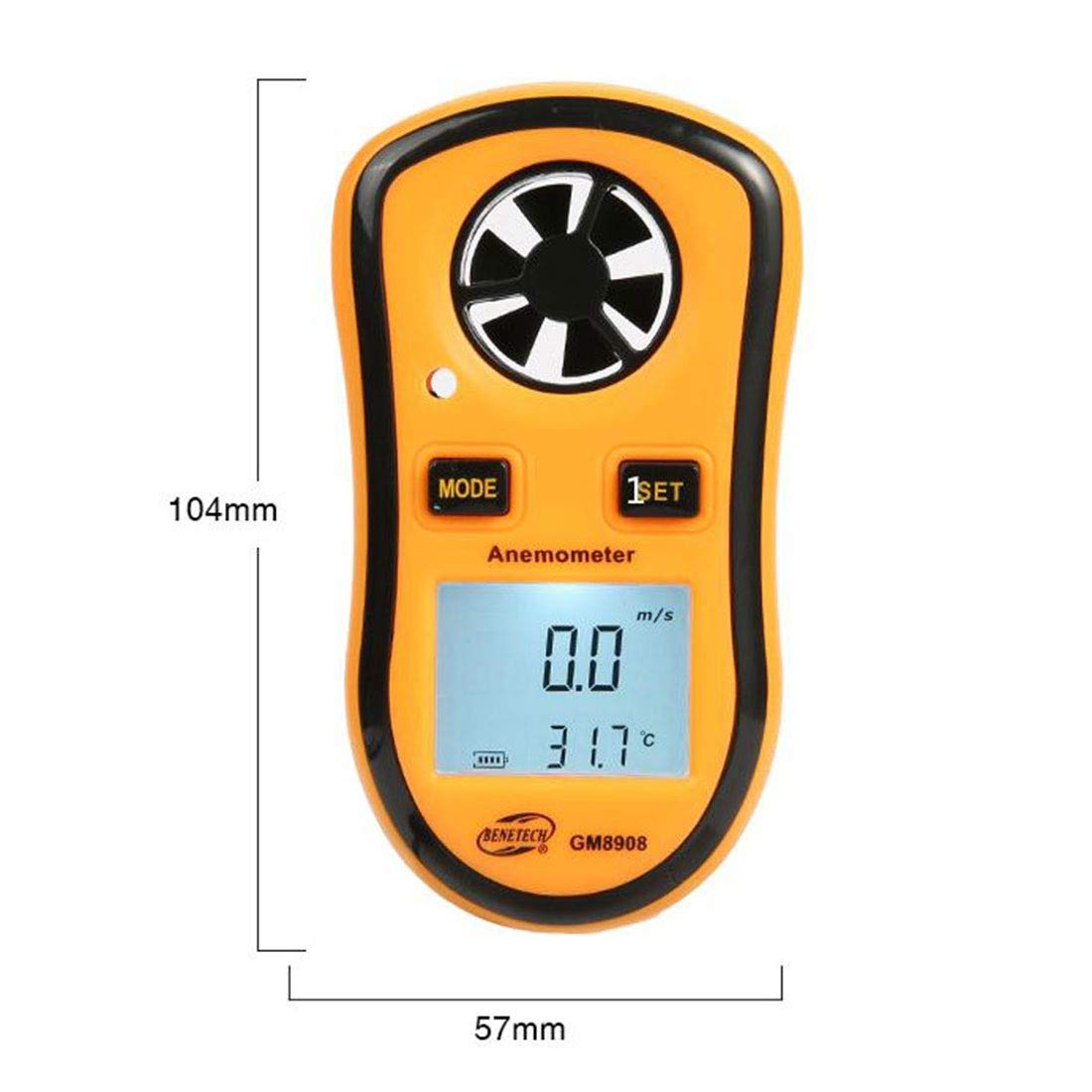 Sugoishop Anemometer Mini Pocket Pocket Anemometer for Measuring Wind Temperature (Color : B)