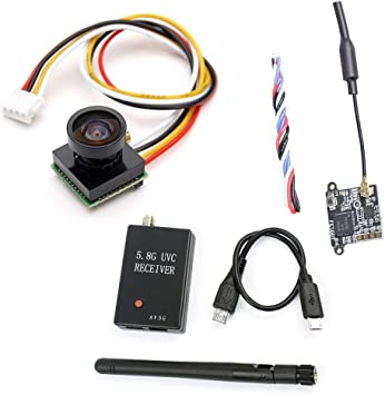 FEICHAO FE200T 40CH FPV Transmisor VTX con cámara FPV Receptor UVC para Android Smartphone FPV Racing Drone: Amazon.es: Juguetes y juegos