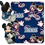 The Northwest Officially Licensed NFL New England Patriots Co Disney's Mickey Hugger and Fleece Throw Blanket Set