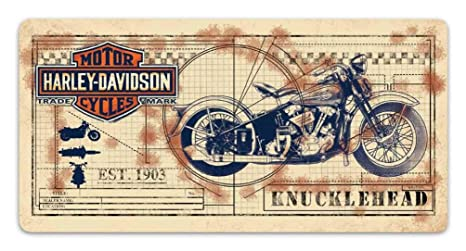 Amazon.com: Harley-Davidson 2011991 - Placa decorativa de ...
