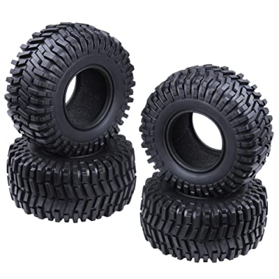 "Hobbypark 2.2"" Tires with Foam Inserts Beadlock Wheel Rims Tyres for 1/10 RC Rock Crawler Truck Replacement All Terrain (4-Pack): Toys & Games"