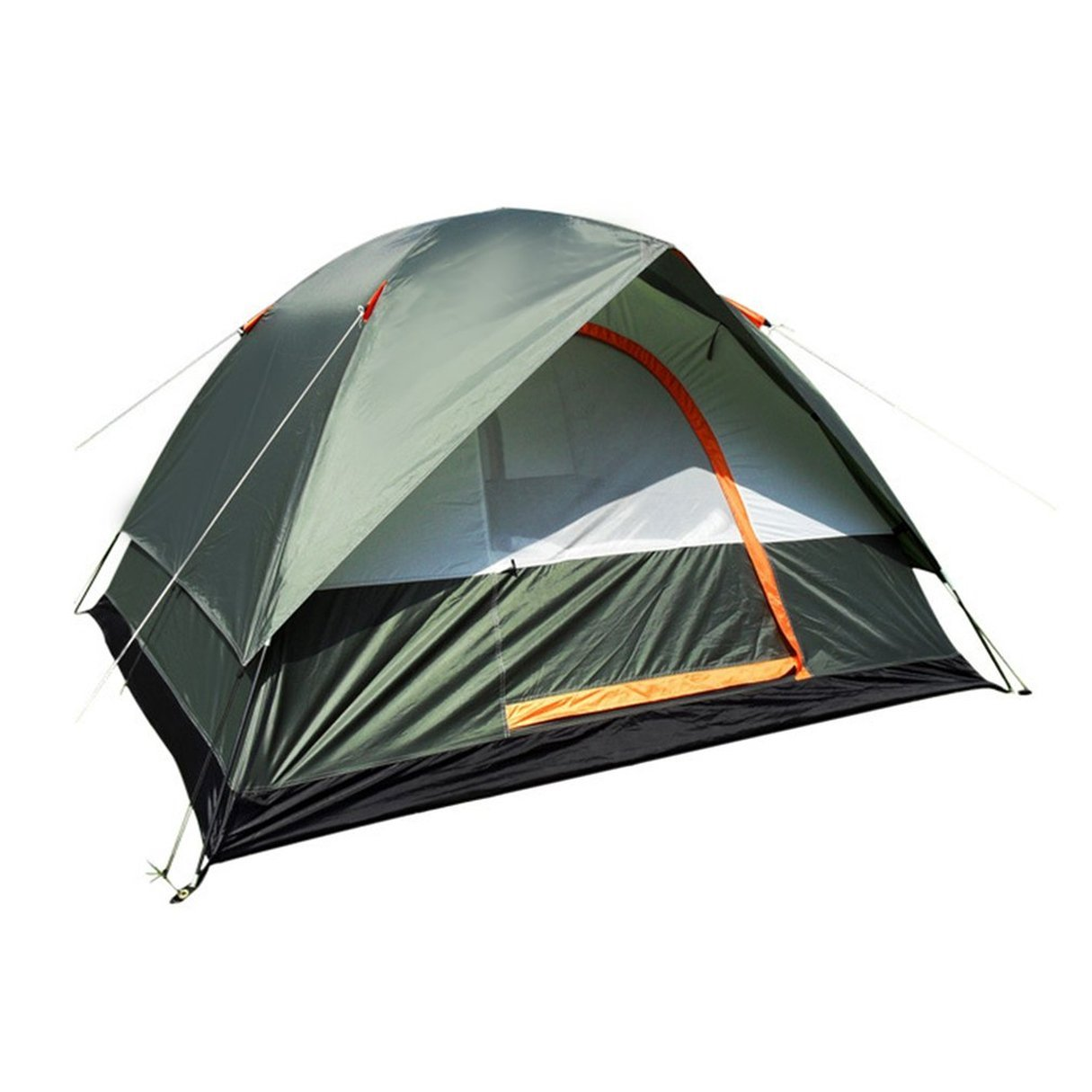 Waterproof Outdoor Camping Hiking Polyester Oxford Cloth Double Layers Tent Portable 4 Persons Travel Climbing Tent