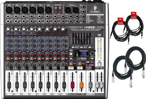Behringer Xenyx X1222USB Mixer w/ 4 Cables by Behringer