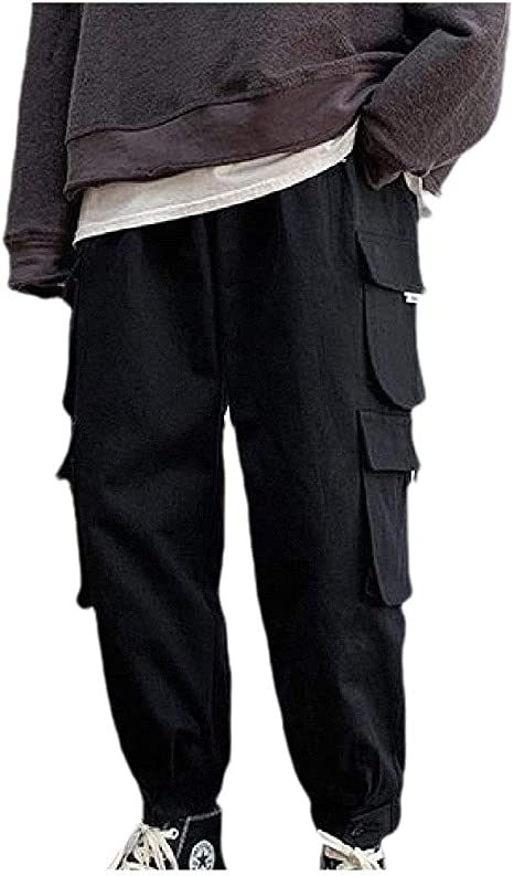 VITryst Mens Loose Outdoor Multi Pockets Pure Fit Cargo Pants