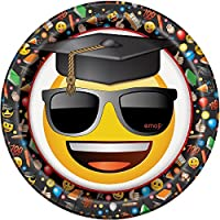 Emoji Graduation Dinner Plates, 8 Count