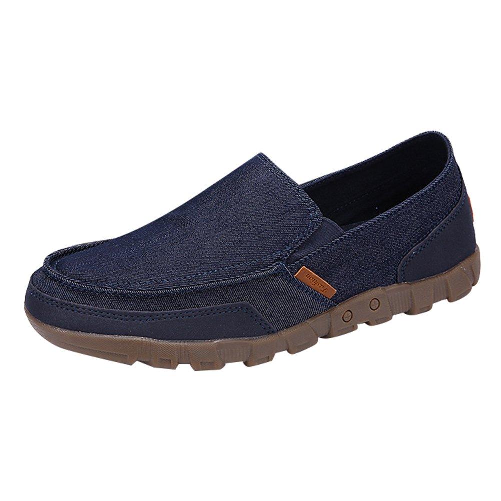 Juleya Zapatos Hombre Mocasines Plano Lona Zapatillas Entrenadores Zapatos de Tenis Moda Verano Pumps Cubierta Zapatos del Barco, Zapatos de Conducción, Sandalias, Slip-on Zapatos 38-48 T180411MS4-J
