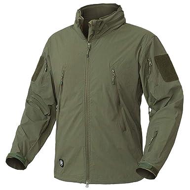 JKFW Lightweight Tactical Men Waterproof Mulit Pockets Military Army Jackets