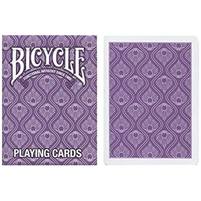 Bicycle Peacock Decorative Playing Cards - 1 Sealed Purple Deck: Toys & Games