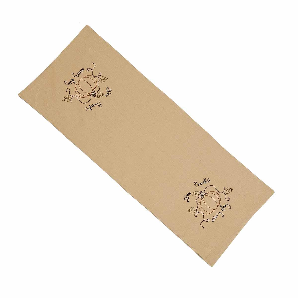Home Collections by Raghu 14'' x 36'' Give Thanks Everyday Table Runner