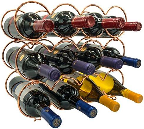 Sorbus 3 Tier Stackable Wine Rack