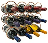 3 tier towel wine rack - Sorbus 3-Tier Stackable Wine Rack - Round Classic Style Wine Racks for Bottles - Perfect for Bar, Wine Cellar, Basement, Cabinet, Pantry, etc - Hold 12 Bottles, Metal (Round Copper)