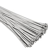 SunplusTrade 100pcs 11.8 Inches Stainless Steel