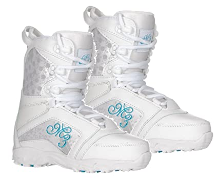 5ac0ab610fcc1 M3 Venus snowboard boots White Blue Girls youth Sizes 4,5 or 6