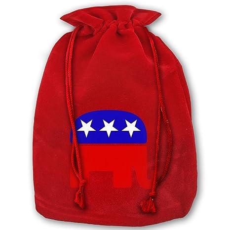 Amazon.com: Navidad Cordón bolsas de regalo elefante ...