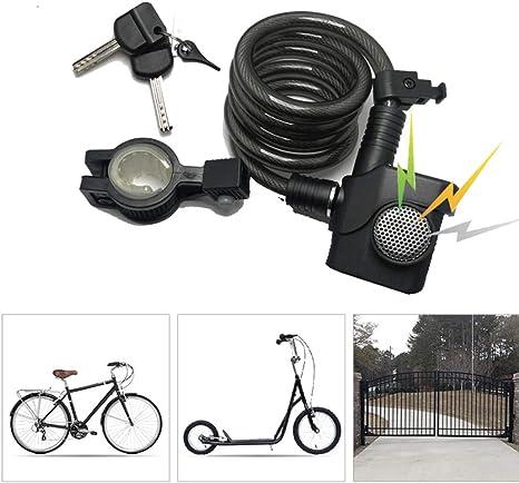 KuaiKeSport Candado Bici con Alarma de Vibración, Alta Seguridad ...
