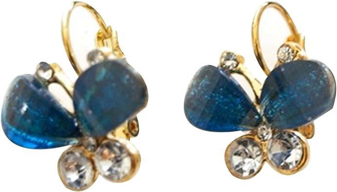 Light Blue Crystal Earings Copper Earrings Aquamarine Earrings Copper Jewelry -