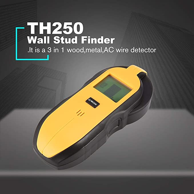 Funnyrunstore TH250 Digital Mini 3 en 1 Detector de Cable en Vivo CA de Metal de Madera Probador de Mano Tornillo de Tesoro de Pared Stud de Pared Buscador ...