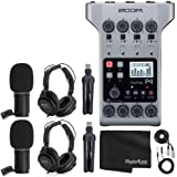 Zoom PodTrak P4 Portable Multitrack Podcast Recorder + 2x Zoom M-1 Mic + 2x Headphones + Windscreens + XLR Cables + 2x Tablet