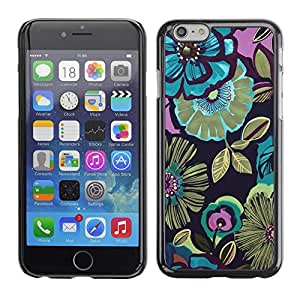 Soft Silicone Rubber Case Hard Cover Protective Accessory Compatible with Apple iPhone? 6 (4.7 Inch) - pink floral vintage pattern wallpaper