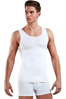 DREANSE - Camiseta interior para hombre, diseño de vientre, 85 % algodón, color blanco, negro o piel Blanco XXL: Amazon.es: Ropa y accesorios