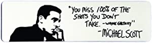 Alpha Awards You Miss 100% of The Shots You Don't Take, Michael Scott Quote, 10 x 2.75 inch Sign