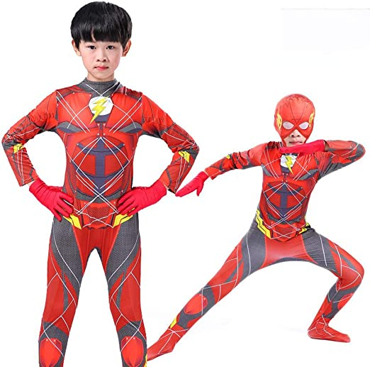 CSLOKTY 3D Kid The Flash Cosplay Disfraz Traje Siamés Navidad ...