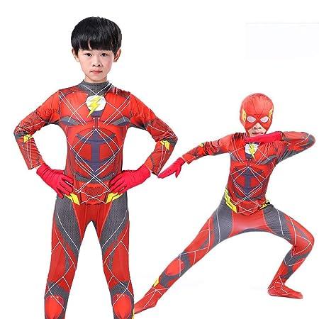 NEW EXOTIC Disfraz De Cosplay Halloween Kid The Flash 3D ...