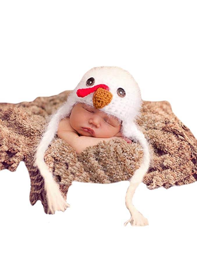 THEE Disfraz Pollito de Fotografía Bebé Recién Nacido