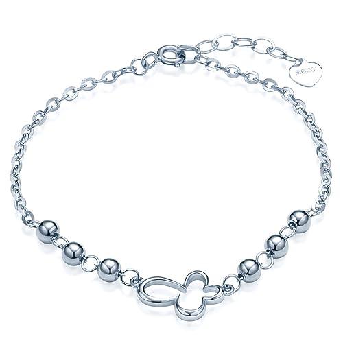 7c254aa7ac23 Infinite U Hueco Mariposa Cuentas para mujer enlace pulsera plata de ley 925  cadena de mano con extensión