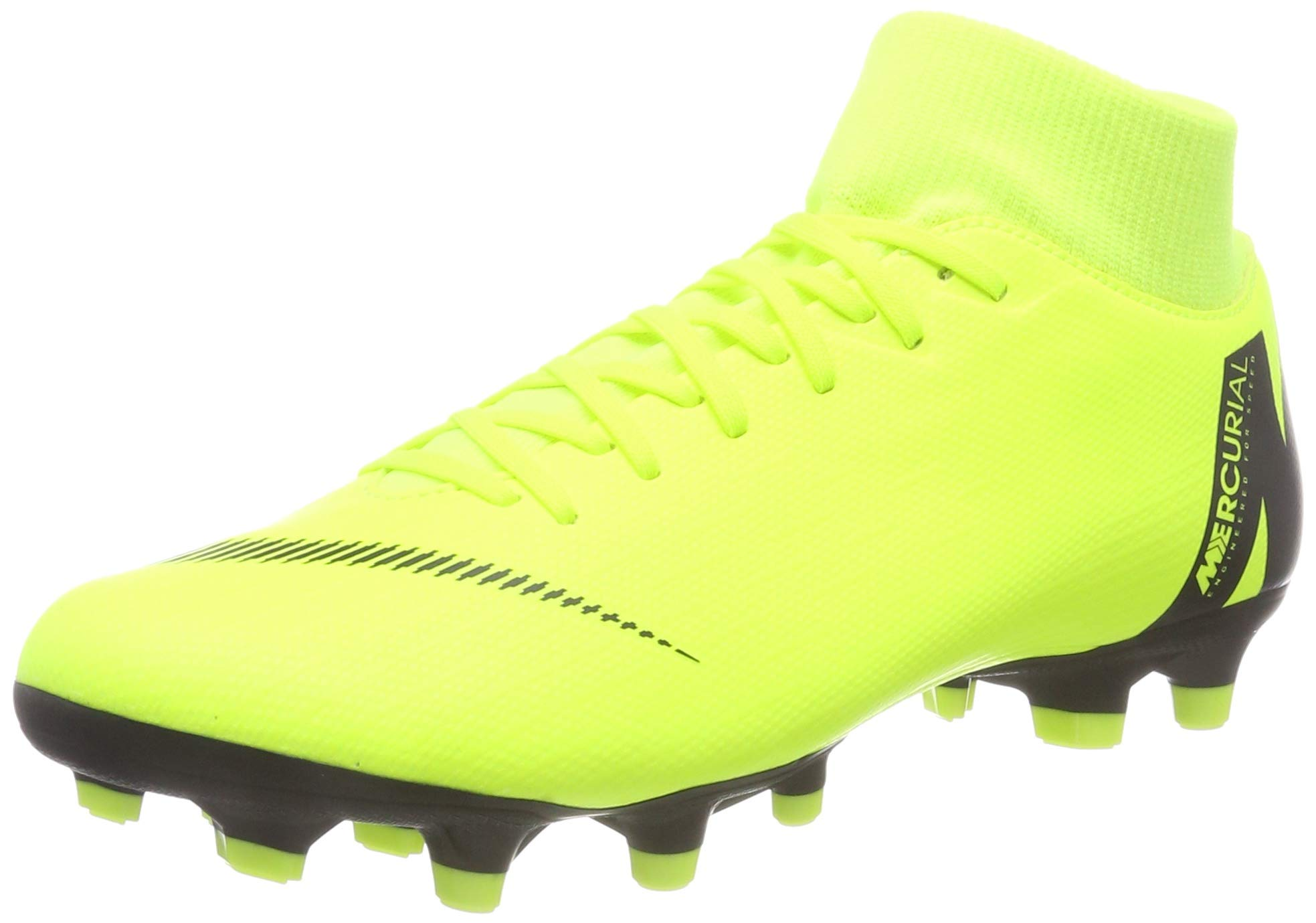 Nike Men's SuperFly 6 Academy FG/MG (10.5, Volt/Black) by Nike