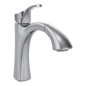 Moen Voss One Handle High Arc Pullout Kitchen Faucet Featuring