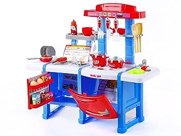 Aufbau Kühlschrank Zubehör : Spielküche kp3470blu spielzeug kinder küche mit zubehör rosa
