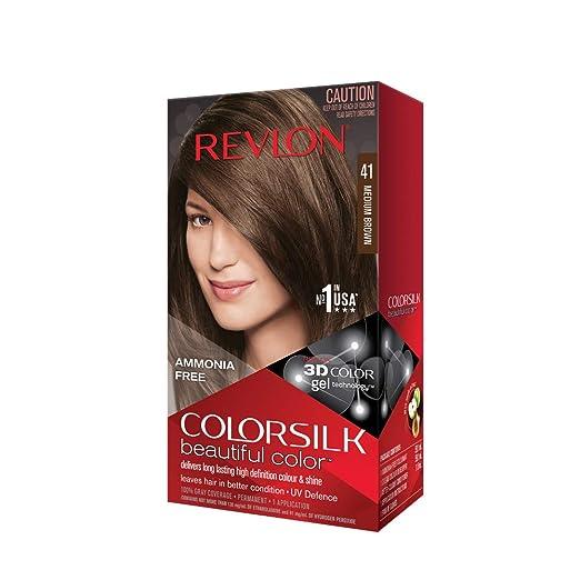 Revlon Colorsilk - Tinte, color 41-castaño medio, 200 gr