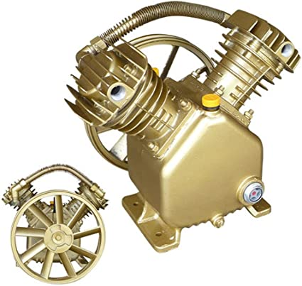 Twin Cylinder V Style Air Compressor Pump 3HP 2 Piston Motor Head FAST SHIPPING