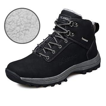 39e41bab5d5 YAN Botas para Hombre Zapatos para Caminar al Aire Libre Zapatos Gruesos de  Nobuck Alto y