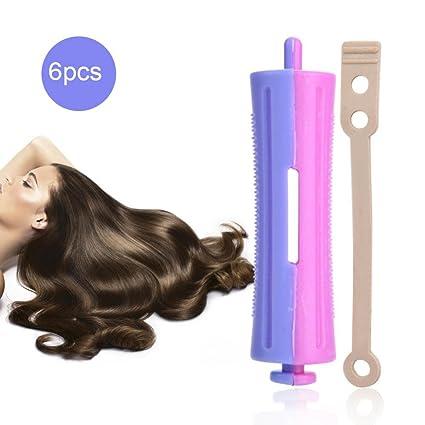 Rodillos de pelo con banda de goma, peluquería estándar de salón de ondas para rizar