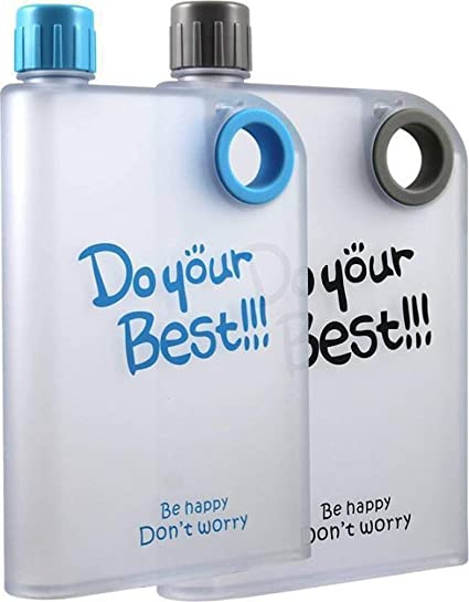 2239b1c4d7 Buy Tuelip ROYALS Altg A5 Memo Notebook Portable Water Bottle, 420ml - Pack  of 2 Online at Low Prices in India - Amazon.in