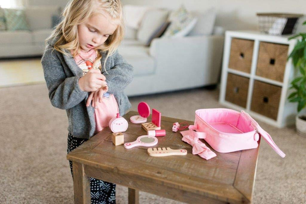 Little Adventures Little Beauty Salon Beautician Wooden Toy Set with Carrying Case Pink by Little Adventures (Image #7)