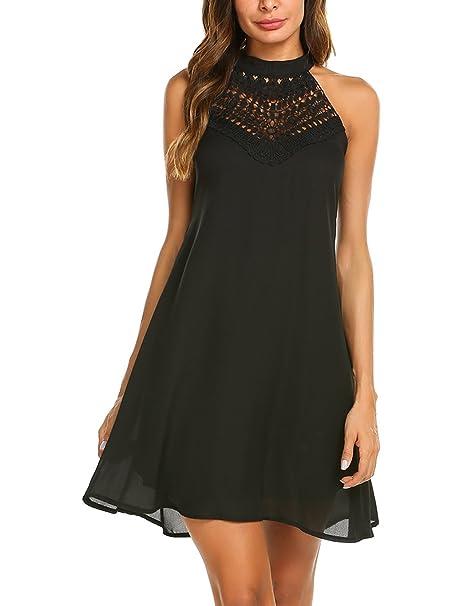 Black Tank Halter Dress