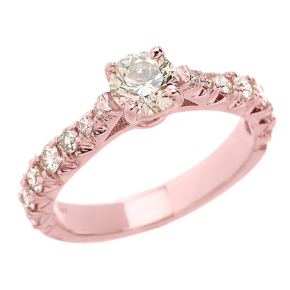 Pequeños Tesoros - Anillos Damas 14 Kt Oro Rosa 585/1000 Diamante ...