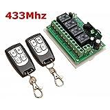 MOHOO 12V 4CH telecomando senza fili Interruttore Relè 2 Transceiver con 1 Ricevitore