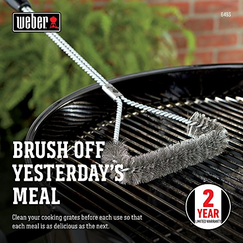 Weber 6493 21-Inch 3-Sided Grill Brush