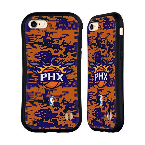 Official NBA Digital Camouflage Phoenix Suns Hybrid Case for Apple iPhone 7 / 8 (Case Suns Phoenix Cellular Phone)