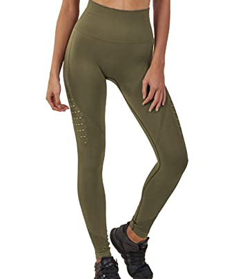 2a4bb3f840556 Women's Seamless High Waist Slim Yoga Pants Hollow out Yoga Leggings Work  out Running Trousers S
