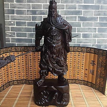 LKXZYX Boda Decoracion Figuras de Grandes Salon candelabros Jardin Exterior Talla de Madera de ébano Guan Gong Figura de la Sala de Estar: Amazon.es: Hogar