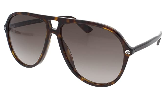 Gucci Herren Sonnenbrille GG0002S 003, Braun (Avana/Green), 46