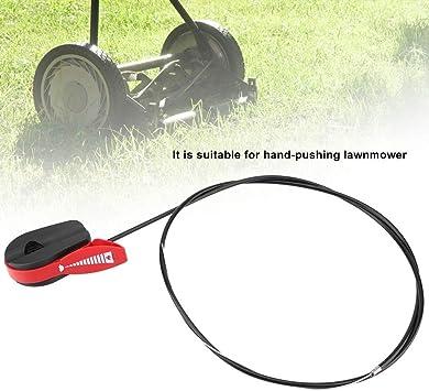 Drosselklappenschalter Farbe : Red MAGT Universal-65 Gaszug Schalthebel Steuergriff Kit for Rasenm/äher for Garten Rasenm/äher
