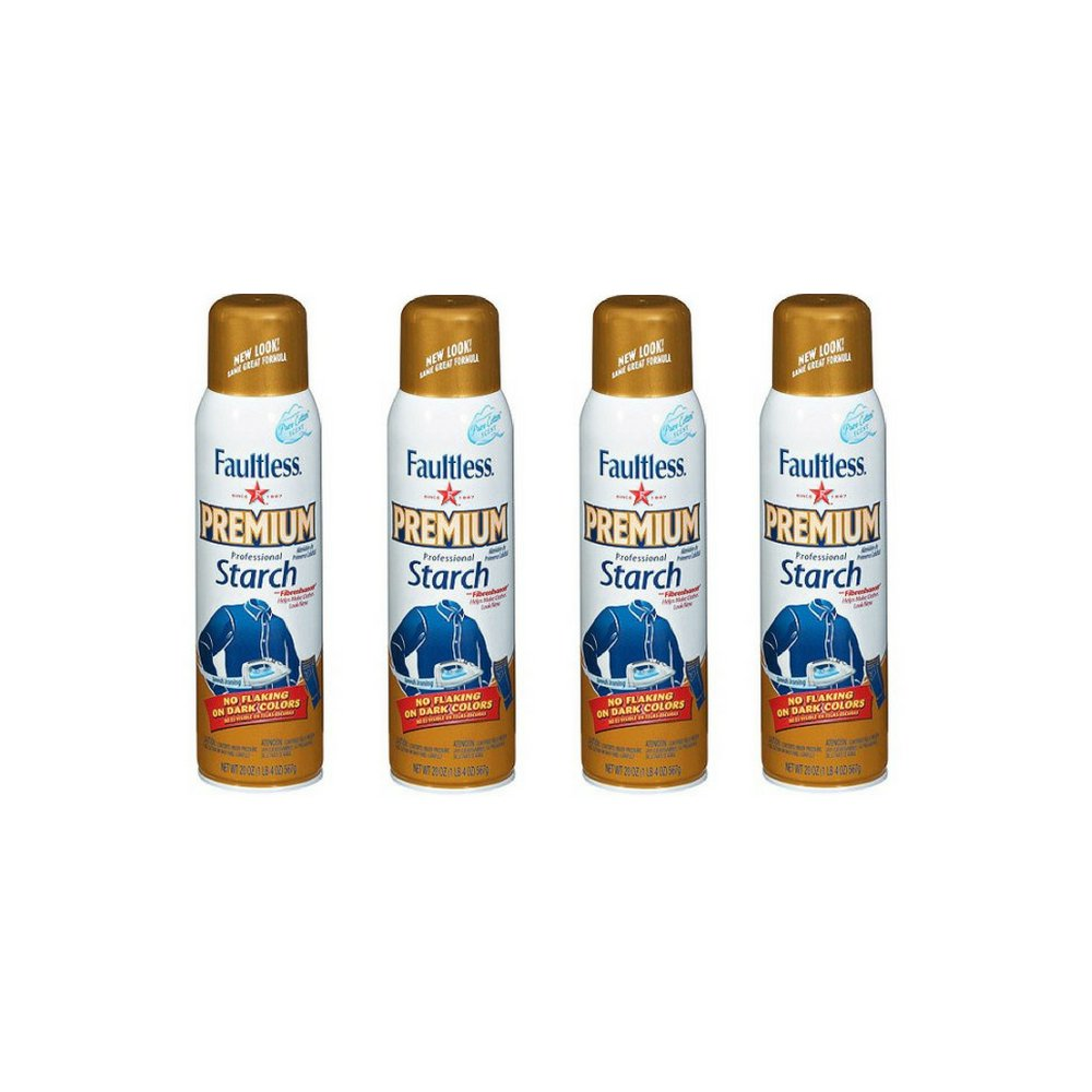 Faultless Premium Professional Starch 20 Ounce - 4 Pack