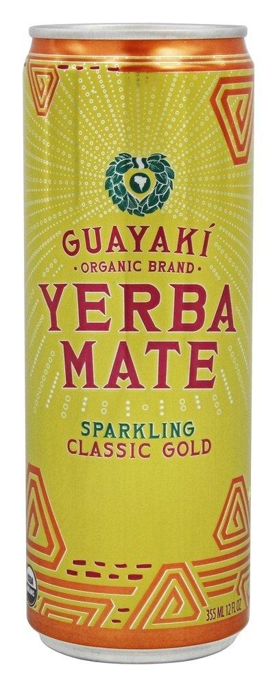 GUAYAKI YERBA MATE RTD SPRKL CLSSC GLD, 12